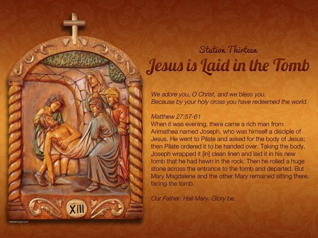 Station 13 of the Way of the Cross (Via Crucis) Catholic