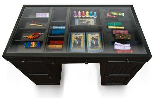 The Ez View Craft Desk Black Craft Desk Craft Room Furniture Scrapbook Storage