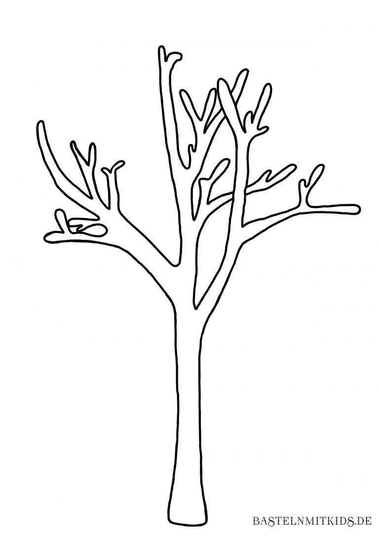 Ausmalbilder Zum Ausdrucken Jahreszeiten In 2020 Baum Vorlage Weihnachtsbaum Vorlage Ausdrucken