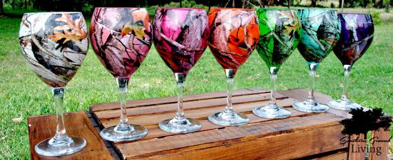 Personalized/Custom Camo Wine Glass more by SouthernGroundLiving