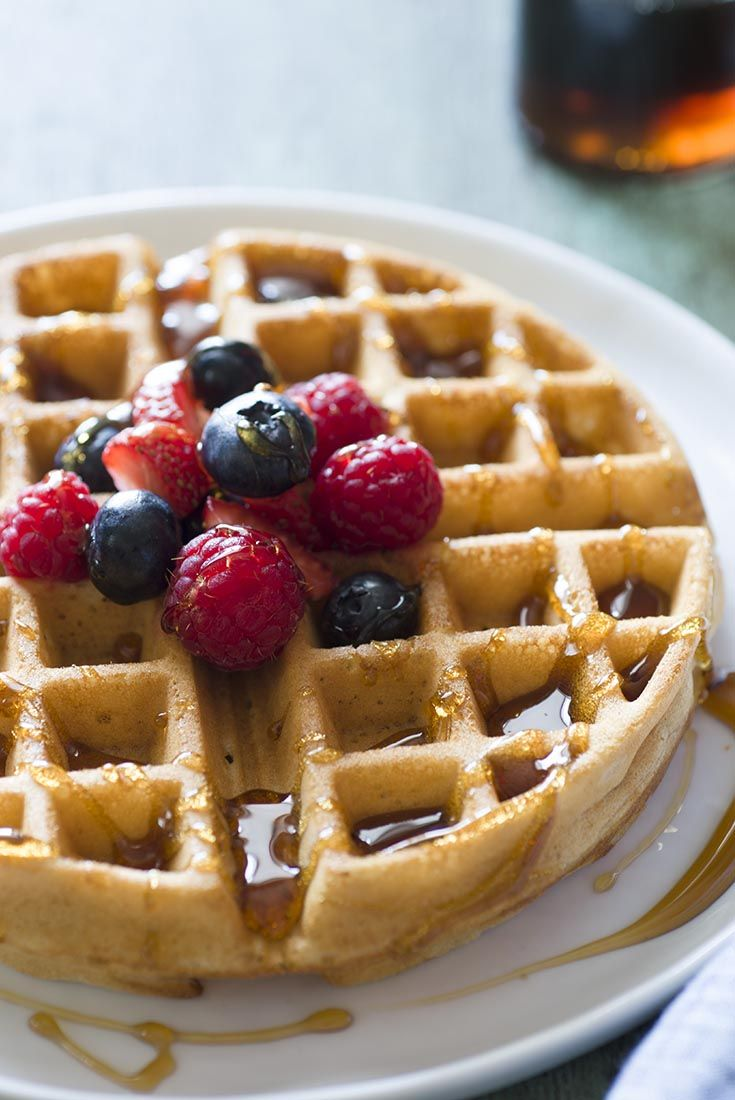 Whole Wheat Waffles   Receta   Recetas