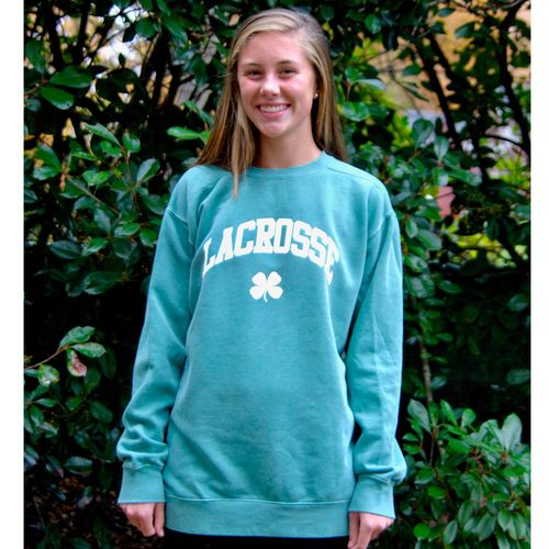 Crew Neck Lacrosse Clover With Images Colorful Sweatshirt