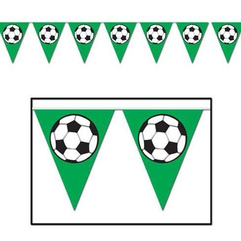 Banderines Futbol Cumpleanos Tematico De Futbol Bandera De Futbol Decoracion Fiesta De Futbol