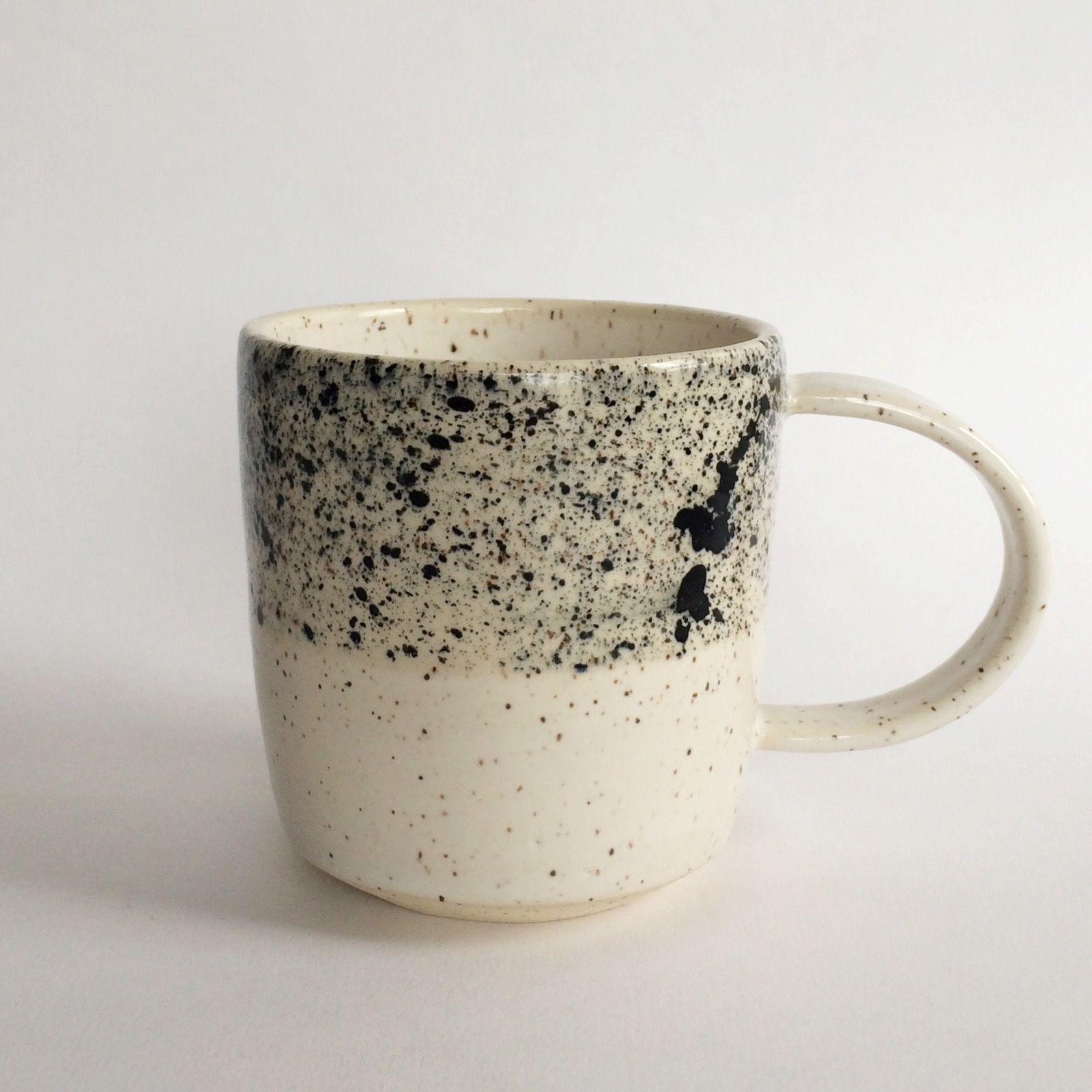 Paint Splatter and White Mug