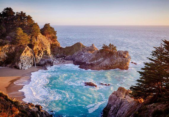 Image result for 10. McWay Falls, Big Sur, California, USA