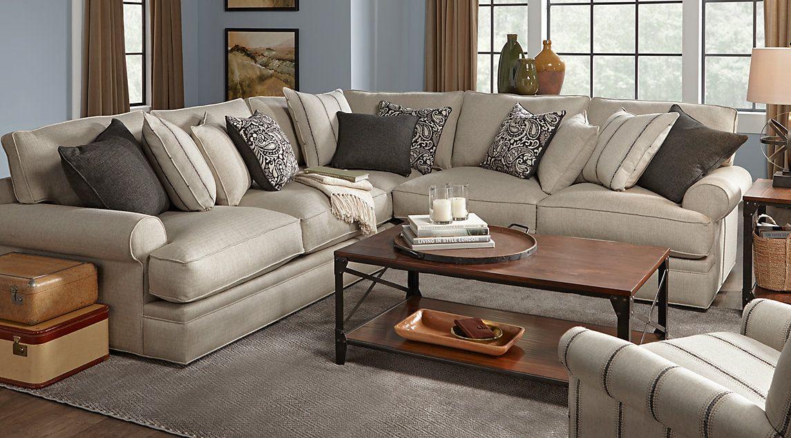Grey And Beige Sofa Novocom Top, Cindy Crawford Furniture