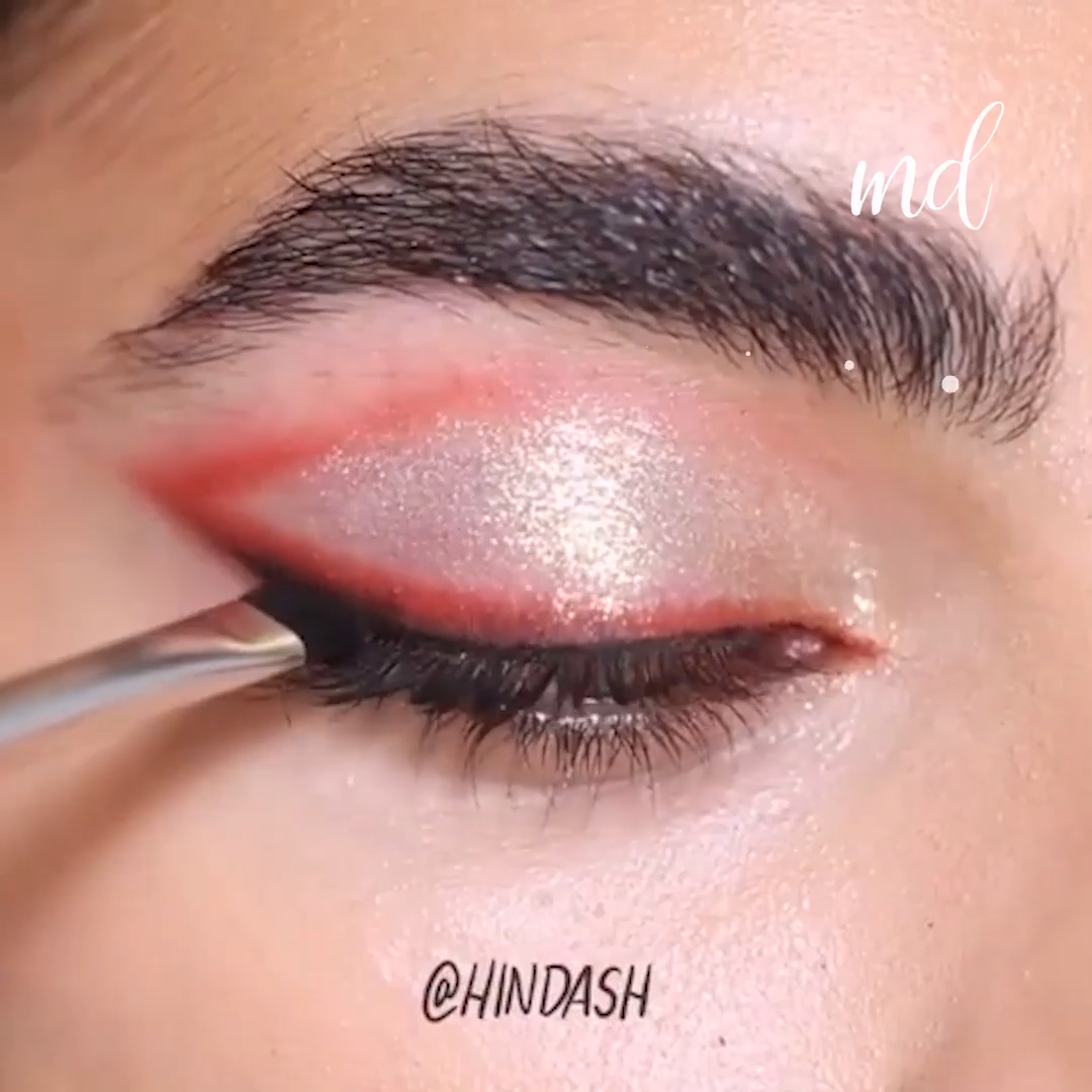 Photo of RED GLITTERY FALL EYE MAKEUP LOOK TUTORIAL