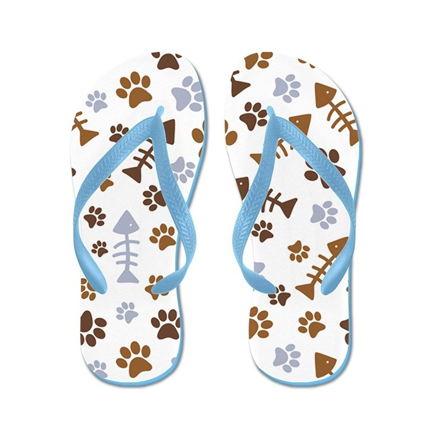 d6304401fb18 Lplpol Cat Paw Prints Pattern Cartoon Print Flip Flops for Kids and Adult  Unisex Beach Sandals Pool Shoes Party Slippers * To view further for this  item, ...
