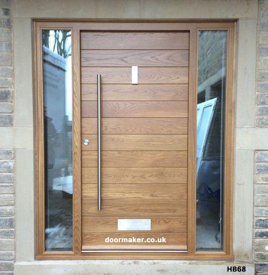 Contemporary Front Doors  oak iroko and other woods  Bespoke Doors. contemporaryoakdoor hb68     Pinteres