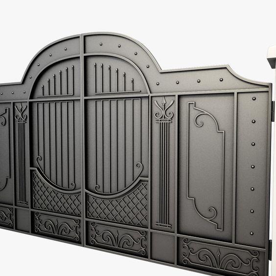 Portones de hierro para casas grandes decoraciones - Puertas de metal para casas ...