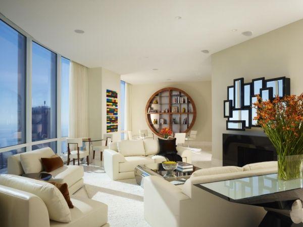 Das moderne Wohnzimmer mit viel Tageslicht natürlich beleuchten ...