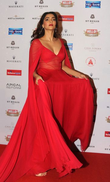 Sonam Kapoor Photos Photos - Indian Bollywood actress Sonam Kapoor poses as she attends the Hello! Hall of Fame Awards 2016 in Mumbai late April 11, 2016....... / AFP / STR - Bollywood NRI of the Year Awards 2016 in Mumbai