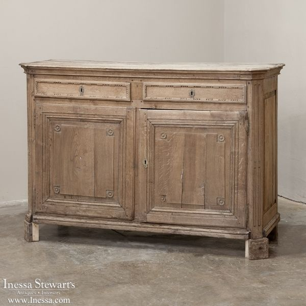 18th Century Rustic French Whitewashed Buffet Rustic French Dining Room Sideboard Rustic Buffet