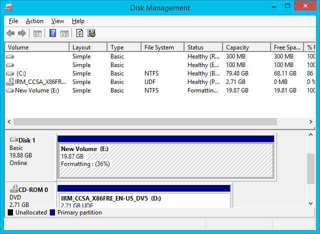 Chick to pro's blog: install windows 8 from external hard drive.