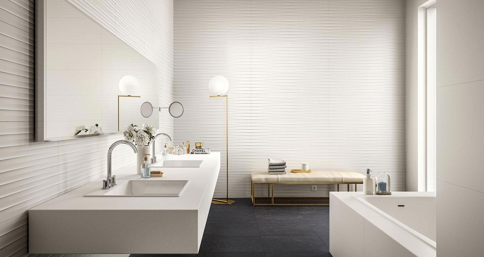 Sanitairsupershop Inspiratie Marazzi Essenziale Tegels Badkamer Woonkamer Vloertegels Wan Patterned Bathroom Tiles White Bathroom Tiles Tile Bathroom