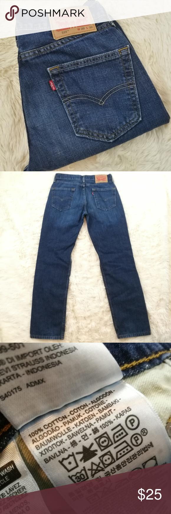 half price cheap prices arrives LEVIS 514 Slim Straight Mens Jeans Size 29/30 Levis men's jeans in ...