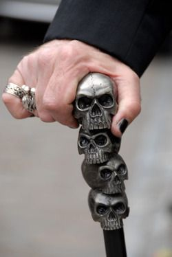 Skull cane for when we are old...