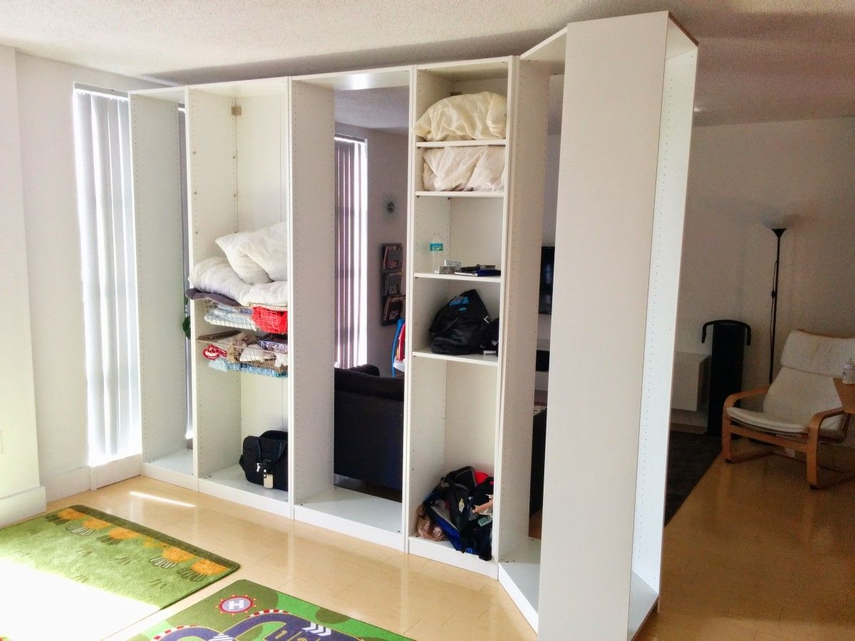 I Built The Pax Room A In Living Entirely Out Of Ikea Closets Without Any Construction Material Other Than Furniture And It S Movable