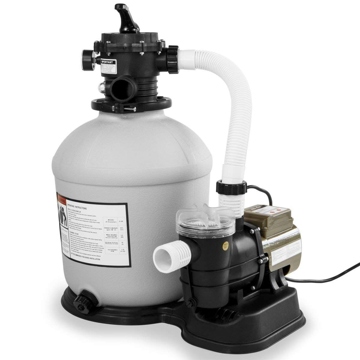 Xtremepowerus Swimming Pool 16 Sand Filter With 3100gph 3 4 Hp Pool Pump Pool Sand Pool Pump In Ground Pools