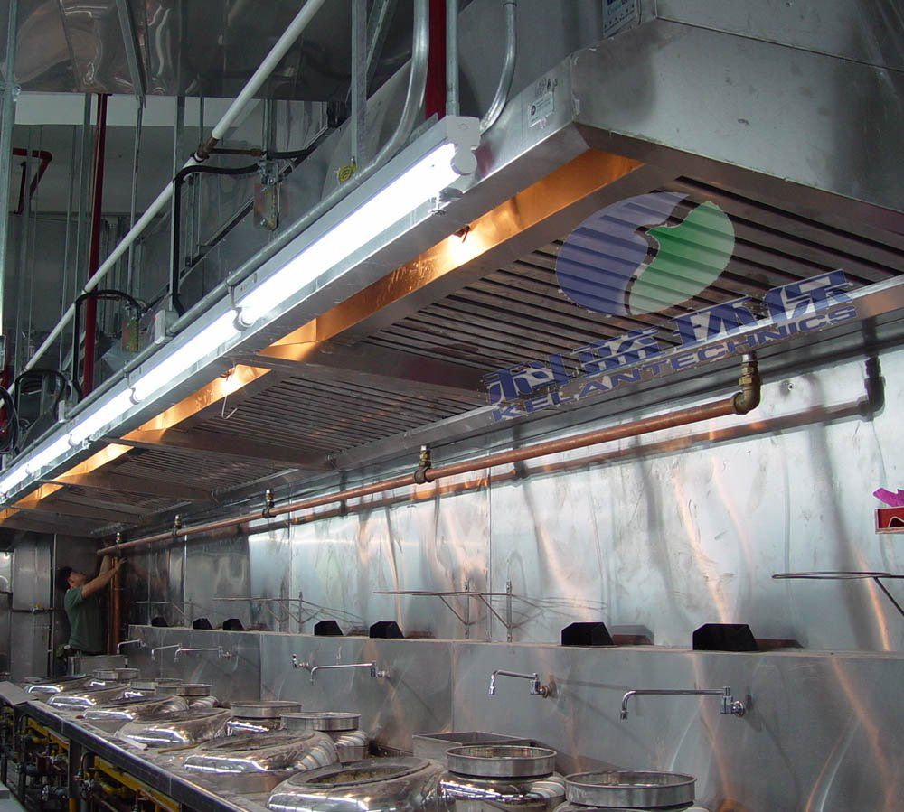 This Long Bank Of Wok Cooking Stations Can Feed A Huge Number Of Hungry  Customers. Stainless Steel Commercial Kitchen Vent Hood Photo, Detailed  About .