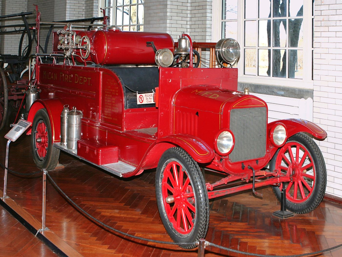 Cars 1926 Ford Model T Fire Truck With American LaFrance Equipment Fvr H Ford Museum CL