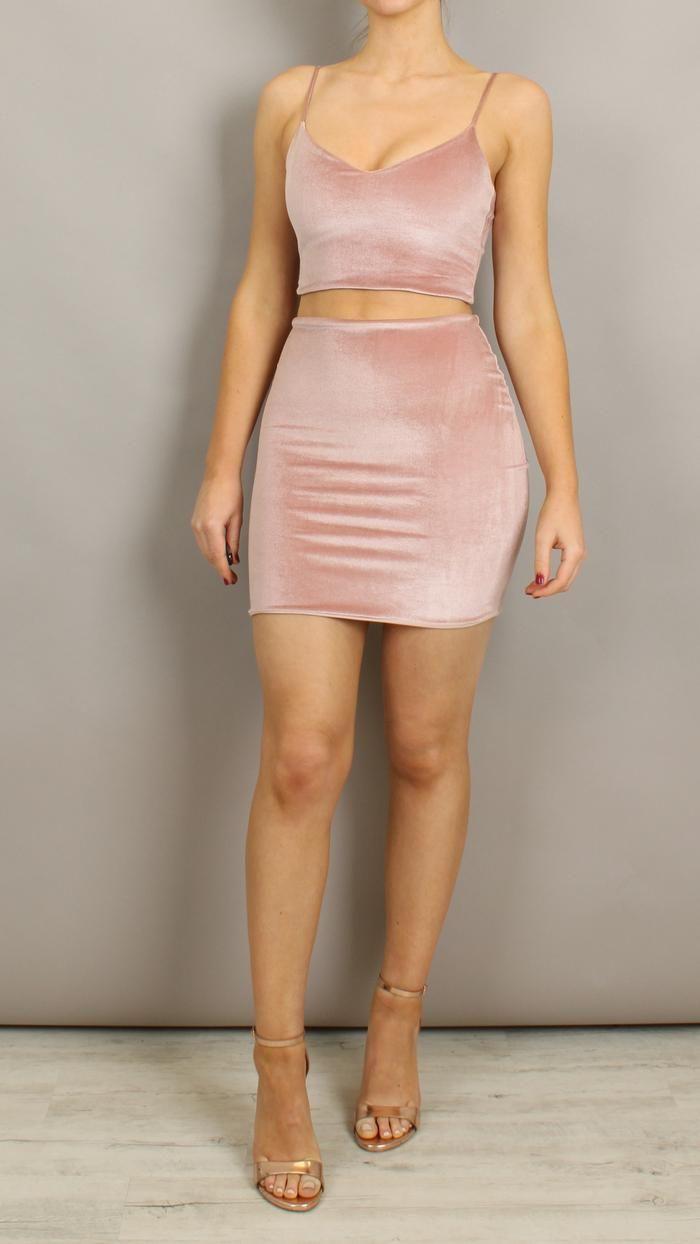 38++ Velvet two piece dress ideas