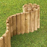 2 x Rowlinson Easy Fix Spiked Border Path Log Roll Grass Lawn Edging 1.8m