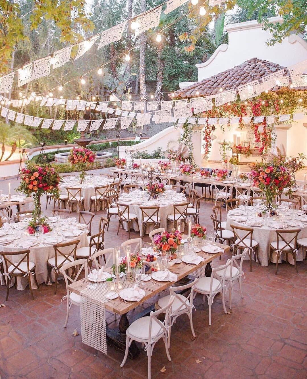 Wedding decorations to make  Make your courtyard wedding this pretty  Ravishing Receptions