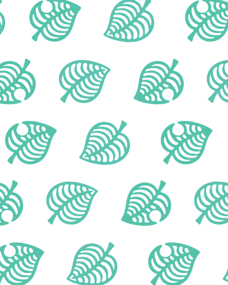 leaf pattern wallpaper animal crossing background