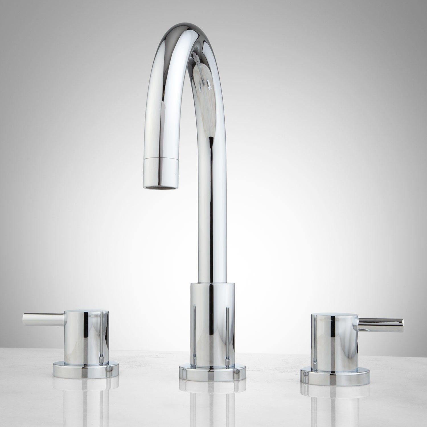 Closeout Bathroom Faucets Isla High Profile Lavatory Faucet With Metal Geode Handles The