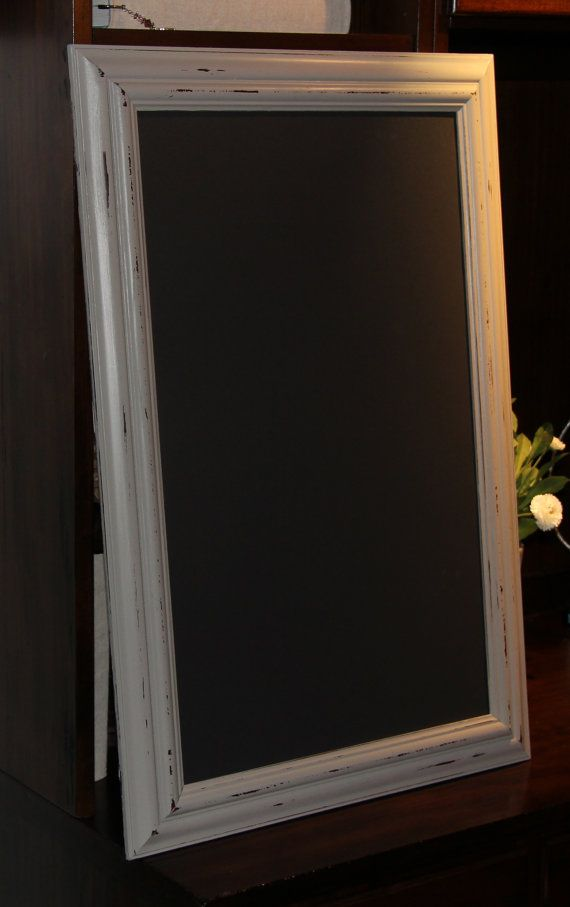 Magnetic Chalkboard Large Long Narrow Distressed By