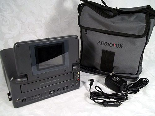 "Sold AUDIOVOX VBP1000S Video in a Bag System 4"" LCD Monitor Video Cassette Player #Audiovox"