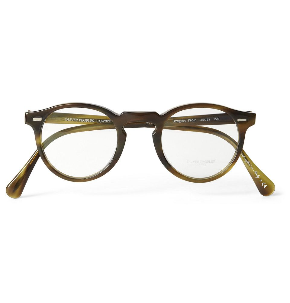 baac8621d3e Oliver Peoples Gregory Peck Tortoiseshell Acetate Optical Glasses ...