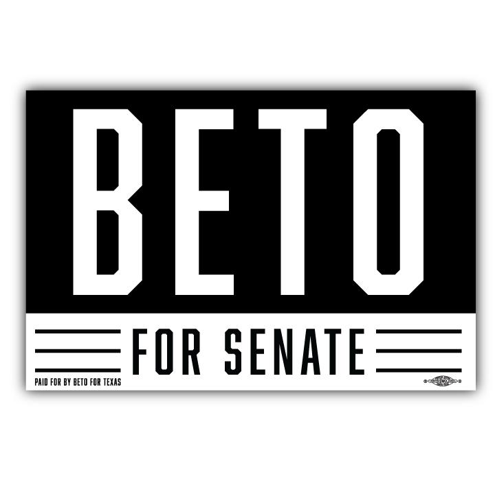 Beto For Senate Logo Graphic 6 X4 Logo Graphic Logos Campaign Signs