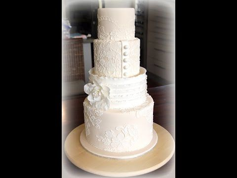 Lace Wedding Cake Tutorial Cupcakes And Cookies