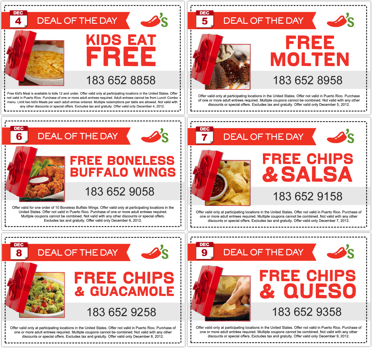 Free 10pc Boneless Wings Day And More This Week At Chilis Restaurants Coupon Via The Coupons App Chilis Coupons Free Printable Coupons Fast Food Coupons