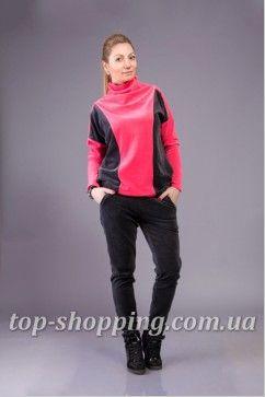680f53161369 Велюровый женский спортивный костюм двухцветный 01468 | шитье шитье ...