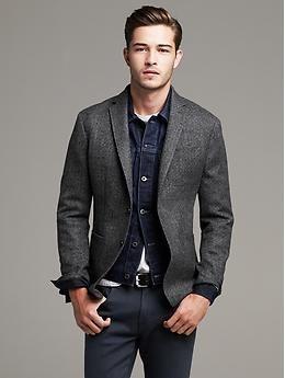 2ea909b65d Heritage Gray Herringbone Wool Blazer