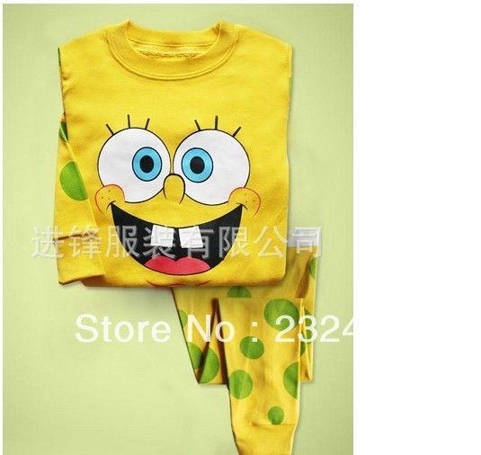 yellow spongebob squarepants baby toddler kid s boys girls sleepwear