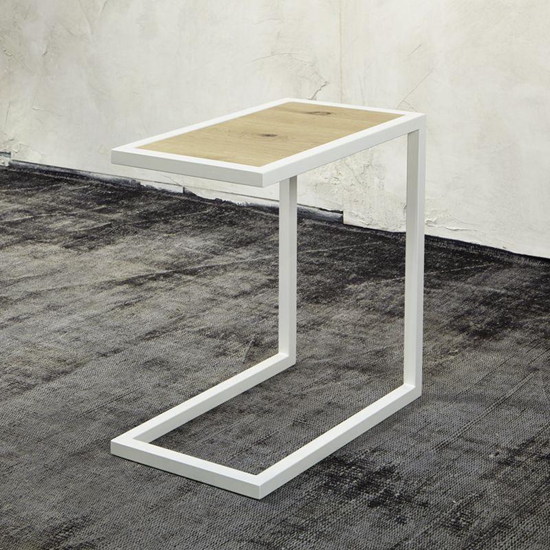 Spinder Design DIVANI Beistelltisch weiß struktur mit Ablage in - wohnzimmer tische günstig