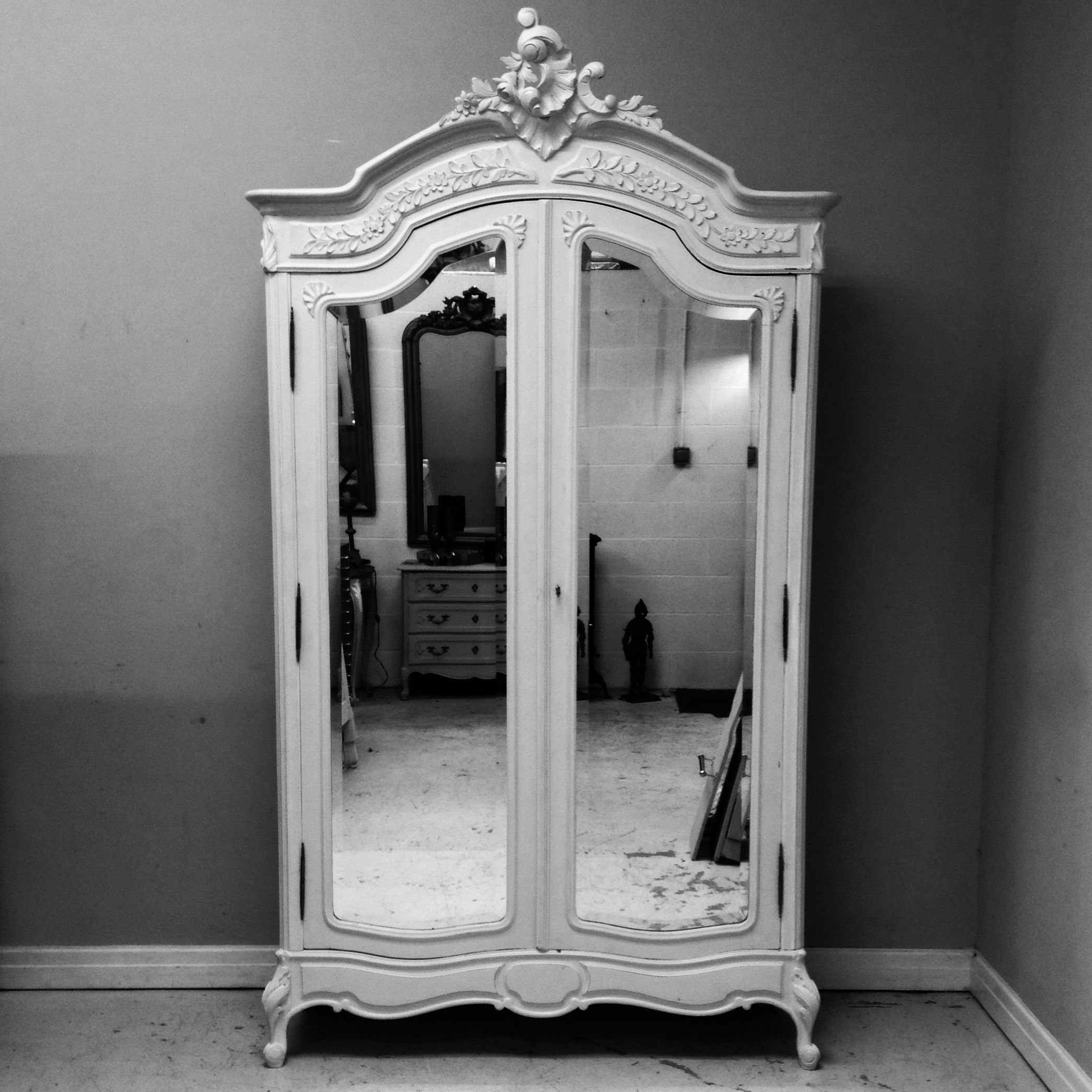 Simple Elegant Rococo French Armoire / Wardrobe / Frenchfinds.co.uk