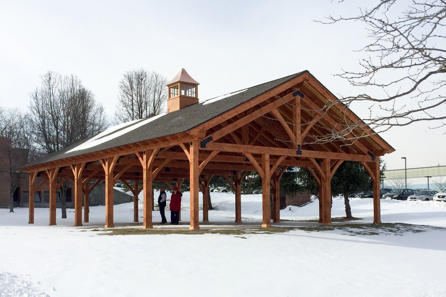 30' x 50' Timber Frame Pavilion at WCSU The Barn Yard