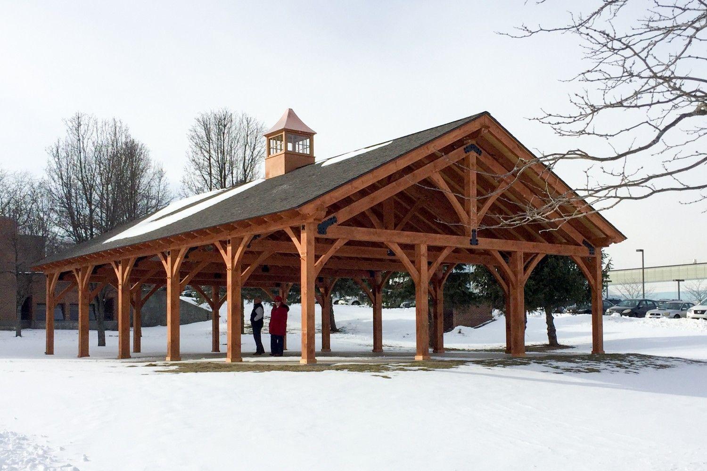 30 39 X 50 39 Timber Frame Pavilion At Wcsu The Barn Yard