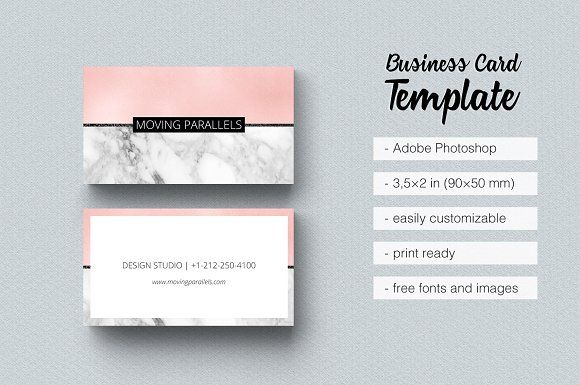 Cartes De Visite Rose Gold Marble Pink Business Card Templates Is Classy Sophisticated