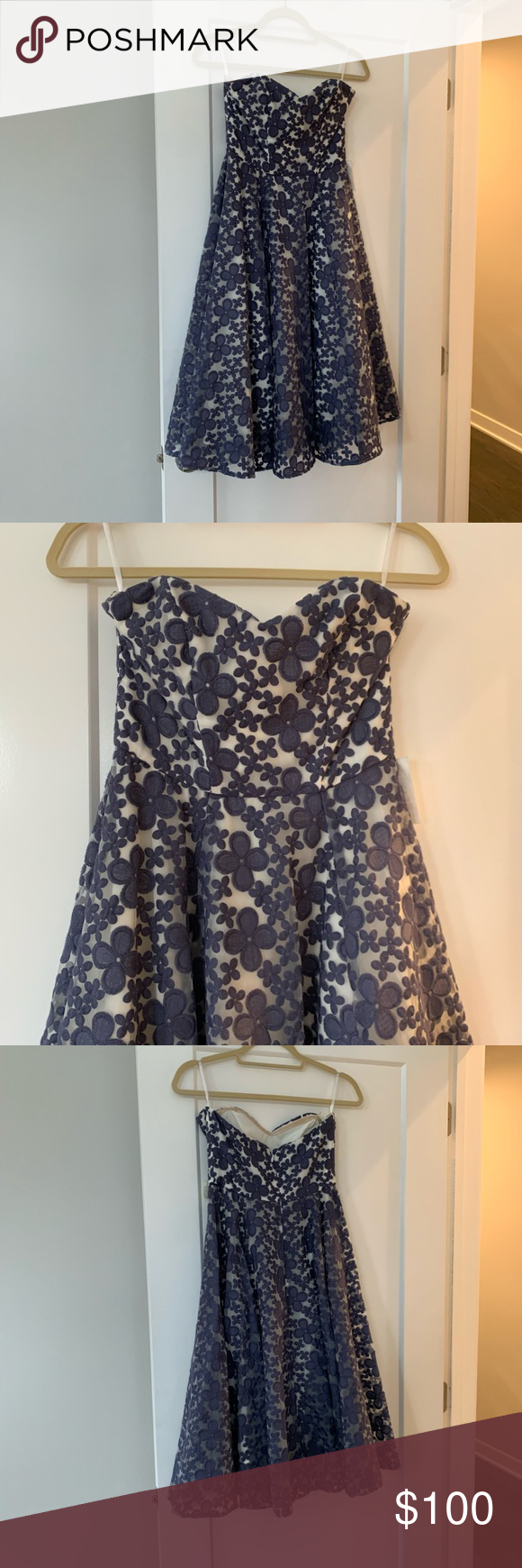 Paper Crown Floral Dress Never worn Paper Crown Dresses Midi #fashiondresses
