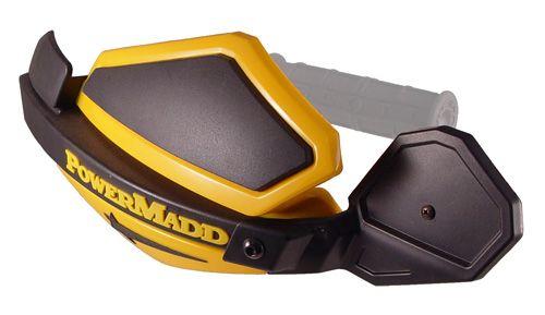 PowerMadd Star Series Mirror on Skidoo Yellow guards.