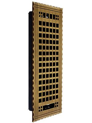 Arts Crafts Premium Brass Floor Register With Adjustable Louver Floor Registers Flooring Arts Crafts Style