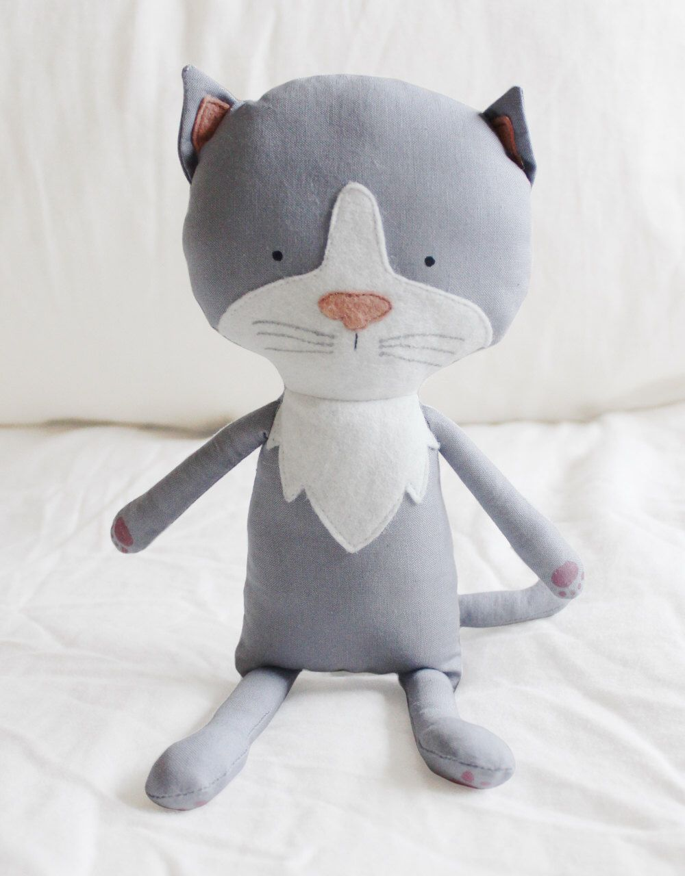 Cat Sewing Pattern Kitten Softie Plush Toy Cloth Doll ...