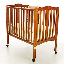 Superb Dream On Me 2 In 1 Lightweight, Portable Folding Convertible Crib   Pecan