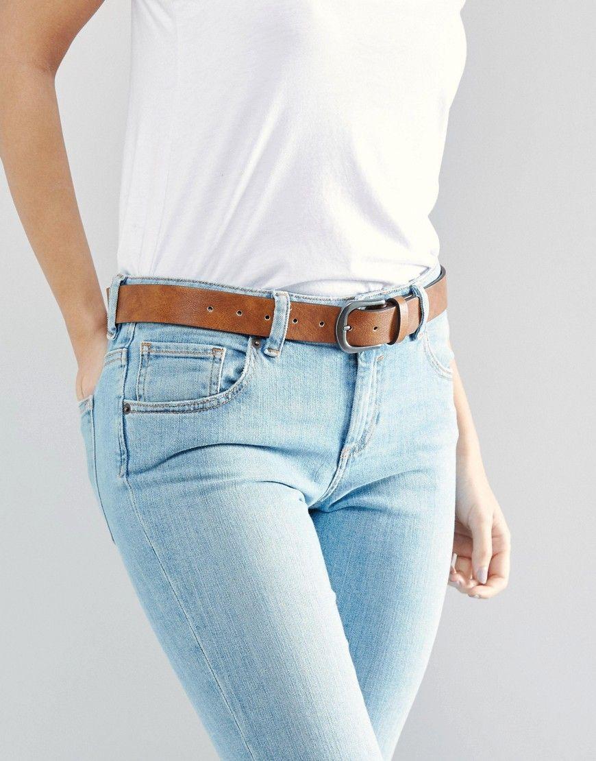 28d40fe2679 ASOS Vintage Tan Jeans Belt - Brown